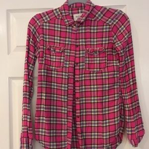 Pink Abercrombie & Fitch Flannel